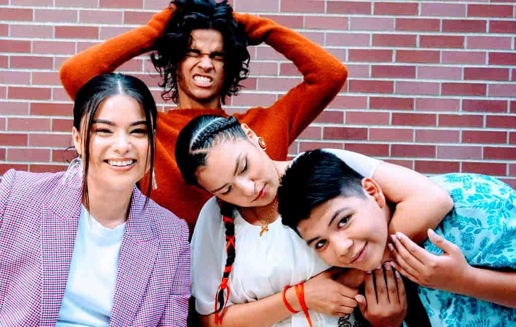 Reservations Dog Cast Lane Factor, Paulina Alexis, D'Pharaoh Woon-A-Tai and Devery Jacobs